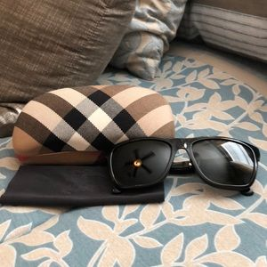 Black Burberry Foldable Sunglasses